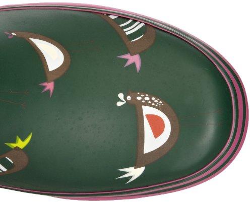 Evercreatures  Chicken Short,  Damen Gummistiefel Green Chicken Print