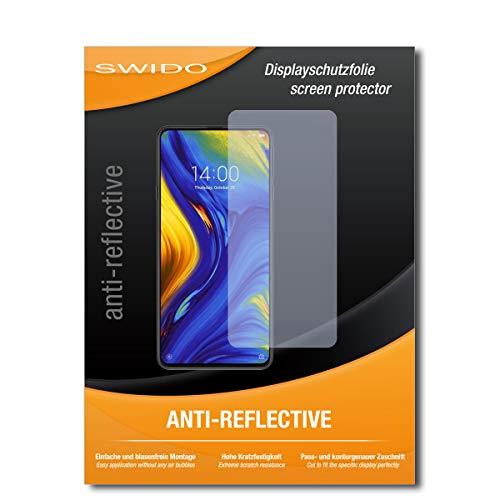 SWIDO Schutzfolie für Xiaomi Mi Mix 3 [2 Stück] Anti-Reflex MATT Entspiegelnd, Hoher Härtegrad, Schutz vor Kratzer/Displayschutz, Displayschutzfolie, Panzerglas-Folie