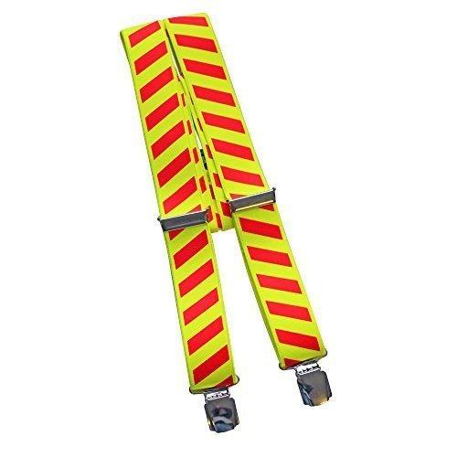 Fan-O-Menal Hosenträger mit Print - Feuerwehr Warnzeichen gelb-rot - 06507
