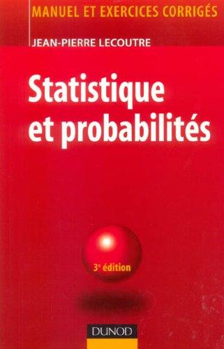 Statistique et probabilités - Manuel et exercices corrigés