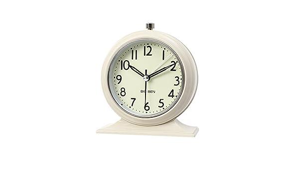 LTOOD Art Metal Fer Rural américain Horloge Horloge muet