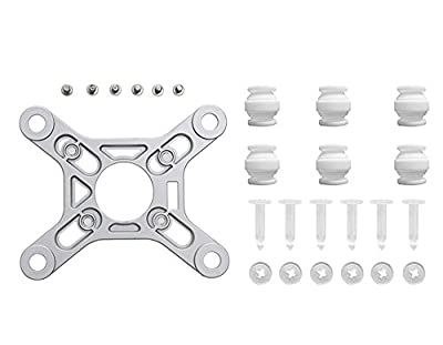 Owoda Anti-Vibration Gimbal Mounting Plate with 6 Set Anti-Vibration Sillicone Ball for DJI Phantom 3 Standard RC Drone