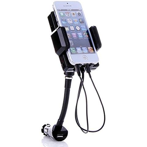 JSG Accessories - Juego 3 en 1 para coche (con transmisor FM, cargador, dispositivo manos libres, para iPhone 5, iPod Touch 5G, iPod Nano 7G, Samsung, Nokia, LG, HTC, BlackBerry)