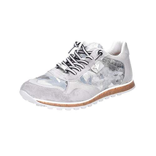 Cetti - Zapatos Cordones Cuero Hombre Gris Gris Plateado