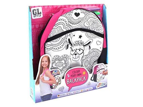 GL Style Mädchen Farbe Dein Eigener Rucksack Kinder Craft Satz