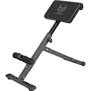 GYRONETICS Rückentrainer klappbar Hyperextension – Bauchtrainer verstellbar mit gepolsterter Beinfixierung Schwarz