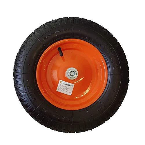 Roue pneumatique Bauswern pour chariots, brouettes, en métal 3.00-4,4.00-6, 3.25/3.50/4.00-8, 3.50-8 with axle, 1
