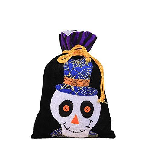 Halloween Taschen Für Süßes Oder Saures, Halloween Party Supplies Gunst Taschen Kordelzug Geschenk Rucksäcke Für Kinder Jungen Und Mädchen,B