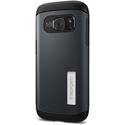 Spigen 555CS20024 - Funda para Samsung Galaxy S7, Azul oscuro/Negro