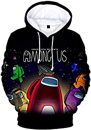 Among Us 3D Print Pullover Unisex Casual Sweatshirts Outwear Drawstring with Big Pockets Hoodies