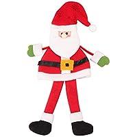 lzndeal Botella de champán de Vino Tinto Bolsa de decoración de Navidad Santa para la Cena en casa