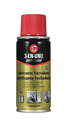 Lubricante de cerraduras - 3 EN UNO Profesional - Spray 100ml