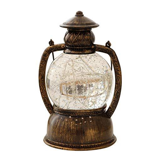 Fil de cuivre cheval lanterne sparkle arbre argent nuit lumière LED lampe de table à envoyer filles anniversaire cadeau nouveauté créative produits électroniques@D'or