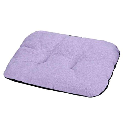 Cuccia per cane, Culater Cane letto per gatti Morbido Mat sonno caldo (31*37cm, Viola) - Ovale Mat