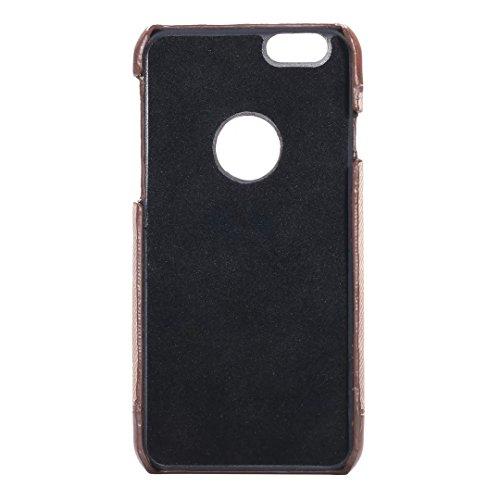 iPhone Case Cover IPhone 6 6S Cover Case, Fashion Mix Et Match Color Case Couverture, Cowboys Jeans motif dur couverture pour iPhone 6 6S ( Color : Brown , Size : IPHONE 6 6S ) Black