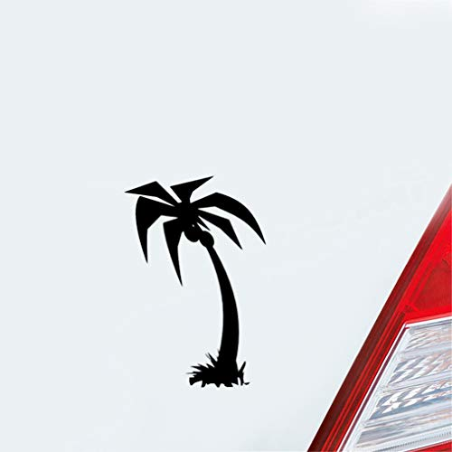 Auto Racing Aufkleber 11.6Cmx17.2Cm Sharp Kokosnuss-Blatt-Baum am Strand Empfindliche Auto-Aufkleber Durchlässiger Muster Fensteraufkleber für Auto-Laptop-Fenster-Aufkleber -