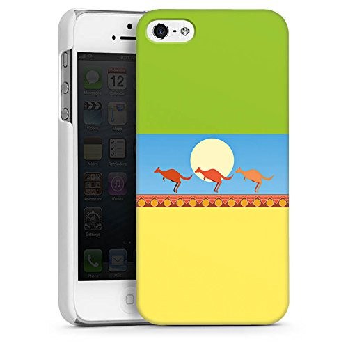 Apple iPhone 4 Housse Étui Silicone Coque Protection Australie Kangourou Vacances CasDur blanc
