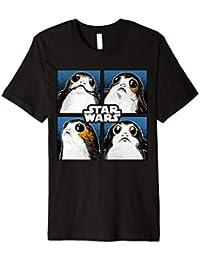 Star Wars Last Jedi Porgs Four Portraits Vintage T-Shirt