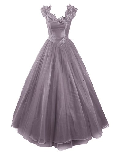 Dresstells, Robe de Cendrillon, robe de cérémonie/soirée/bal longueur ras du sol, mode de bal Gris