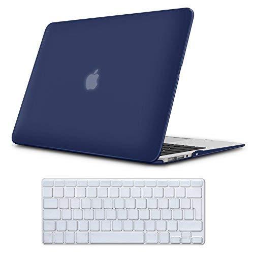 Case MacBook Air 13 Hülle Navy Blau ,iCasso Reines Farbe design Ultra Slim Dünn Kratzfeste Matt Rutschfest Hartschale Kunststoff Schutzhülle Snap Case für MacBook Air 13 Zoll (Modell: A1369 / A1466) Design Snap Case