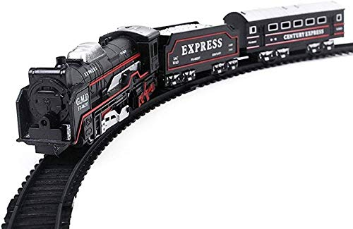 HRK Battery Operated Train Set with Light (Multicolour, 13 Pieces)