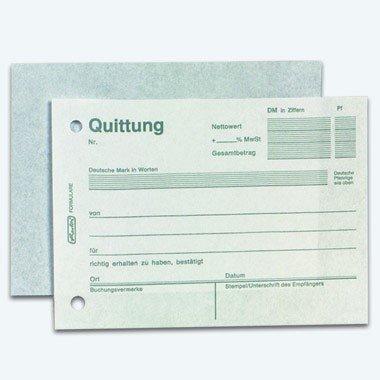 Herlitz Quittungsblock 403, A6 quer, 2 x 50 Blatt