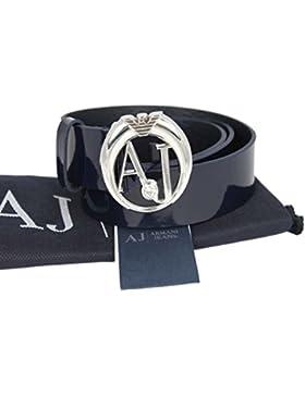 Armani Jeans Gürtel Damengürtel Belt Leder 0510547 blau