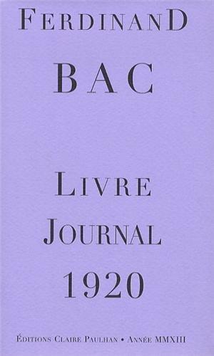 Livre-Journal 1920