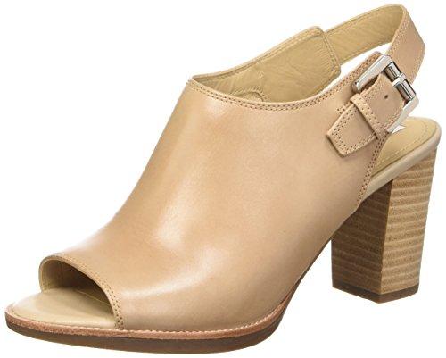 Geox  New Callie B,  Damen Sandalen , Beige - Beige (Light Taupe) - Größe: 40 EU