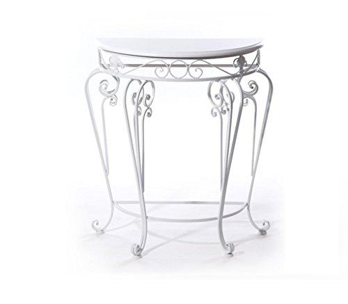 DFHHG® Porte-fleurs, style européen Classique classique Table semi-ronde Table d'entrée Ensemble de table de thé Ensemble de fleurs 60 * 30 * 70cm Support de fleur américain ( Couleur : Blanc )
