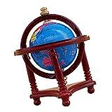 Fenteer 1/12 Puppenhaus Weltkarte Globus Weltkugel Globe Mit Holzständer Modell, 1 Stück - C