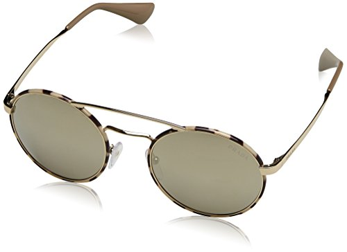 Prada Damen Sonnenbrille 0PR51SS UAO1C0, Gold (Pale Gold/Tortoise/Light Brown Gold), 54