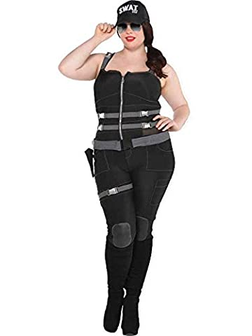 Costumes Ladies Fancy Dress - Adult Armed And Dangerous Sexy S.W.A.T Fancy