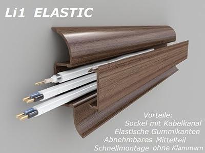20 Meter Sockelleisten Fußleisten Leisten Li1 Elastic, Buche hell von Marbet Design bei TapetenShop