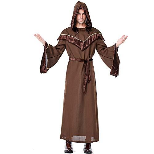 Kostüm Pate Hat - WYZDQ Halloween Kostüme, religiöser Pate männlicher Zauberer Anzug Halloween Cosplay Bar Dance Party Kostüm