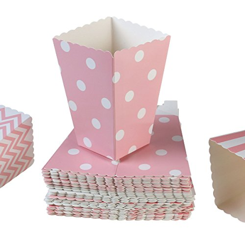 NUOLUX-48pcs-Popcorn-Boxes-bolsa-de-palomitas-caja-palomitas-de-maz-rayas-de-color-rosa