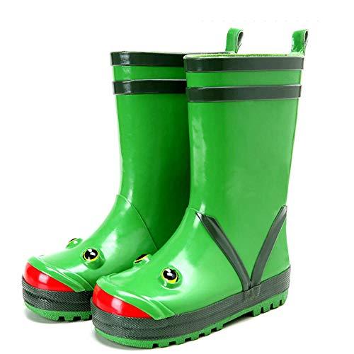 Kids Frog Rain Boots Children Boy Girl Waterproof Rain Shoes Cute Anti Slip Rubber Rain Boots Shoes Red Size 25 32