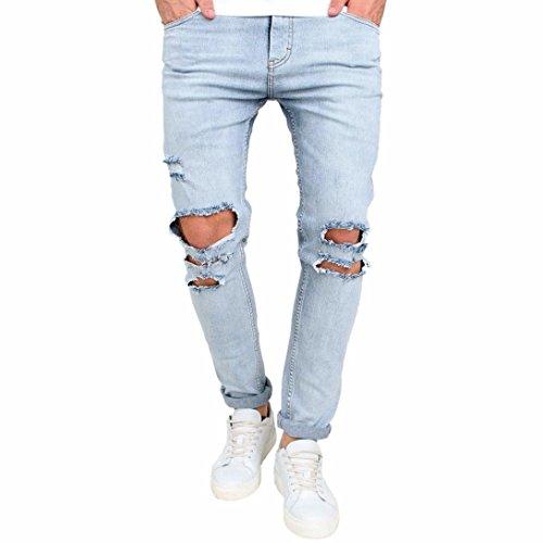 Hosen Herren Jeans Destroyed Btruely Outdoorhose Herren Bikerhosen Denim Freizeithose Männer Sporthose Slim Fit Stoffhose Cargohose