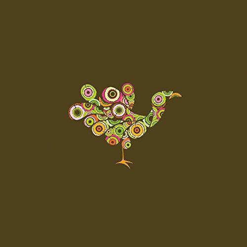 Apple iPhone 4 Housse Étui Silicone Coque Protection Paon Oiseau couleurs Étui en cuir marron