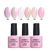 AIMEILI Gel Nail Polish Set Soak Off UV LED Gel Polish Multicolour/Mix Colour/Combo Colour Of 6pcs X 10ml - Gift Kit 31