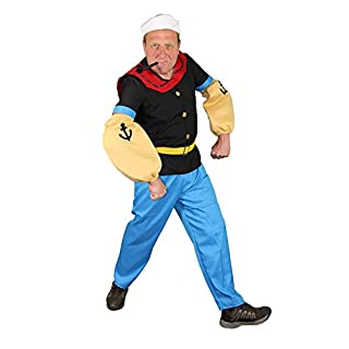 Seemann Comic Held Kostüm für Herren S - XXL, Größe:XXL