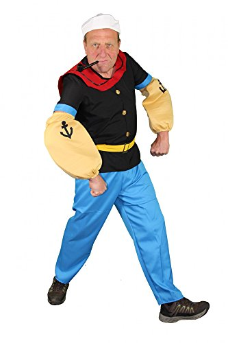Seemann Comic Held Kostüm für Herren S - XXL, Größe:XL