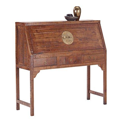CHINA 8273 Sekretär aufklappbar mit 5 Schubladen, Holz, forest, 40 x 120 x 115 cm