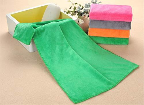 PENVEAT 16 Farben Mikrofaser-Handtuch, trockenes Haar, Beauty-Salons, spezielles Handtuch, Großhandel, super saugfähig, Gesichtshandtücher, grün, 35 x 75 cm, 85 g