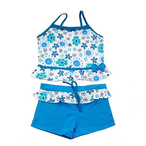DressLksnf Mädchen Drucken einteiliger Badeanzug-Bikini-Badeanzug-Zweiteiliger Beachwear Mädchen Zweiteiliger ()