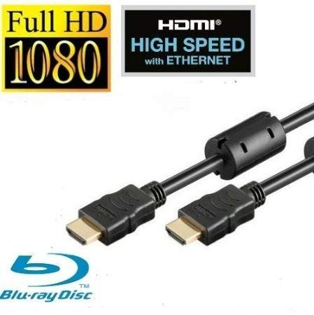 Rydges Original HDMI Kabel HDMI 2.0/1.4a incl. Ferritkern (spezieller Entstörfilter) kompatibel mit Ethernet (Neuster Standard) ARC 3D Full HD (1080p/1440p) Länge frei wählbar (2m)