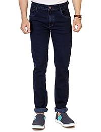 Par Excellence Men's Indigo Relaxed Fit Jeans
