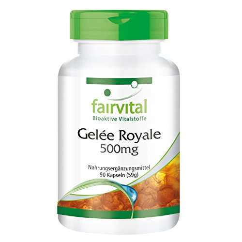 Gelée Royale Extrakt 500mg - für 1 Monat - HOCHDOSIERT - 90 Kapseln - standardisiert auf 4% 10-DHA
