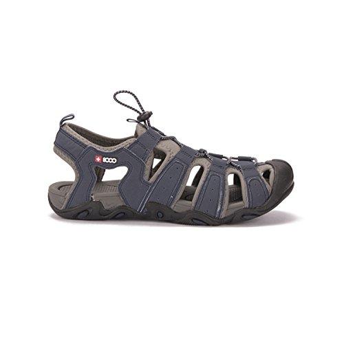 +8000 Sandalia TROKEN Hombre Azul Caminar, Playa, Piscina, Sportwear, Trekking EU46