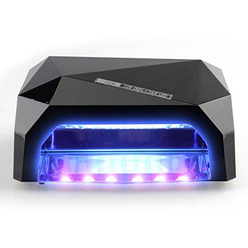 Perfect Summer 36W Lampe Sèche Ongles à LED Professionnelle pour Vernis, Gel et Shellac de Manucures avec Minuterie de 10s/30s/60s-Noir